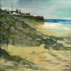 Breaking Waves, Sandend  - oil on canvas