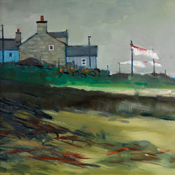 Low Tide, Sandend  - oil on canvas