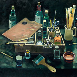 The Artist's Table - oil on canvas